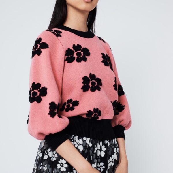 Jersey rosa de punto Daisy